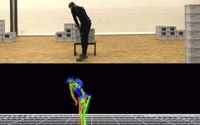 Laufende Experimente mit dem Motion Capturing System